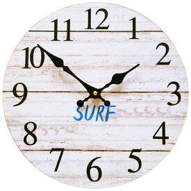 サーフ ウォールクロック 28.5cm (サーフ WH KS-OLCLWASH)】壁掛け時計 西海岸風 インテリア アメリカン雑貨