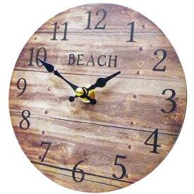 サーフ スタンドクロック 15cm (ビーチ BR) 置時計 西海岸風 インテリア アメリカン雑貨