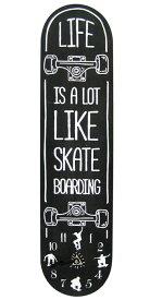 スケートボード ウォールクロック BK 壁掛け時計「SKATE BOARD スケボー BK」オリンピック・通販 デッキ おしゃれ時計 アメリカ雑貨屋 スケボー 西海岸風 インテリア アメリカン雑貨