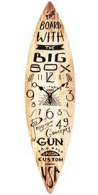 サーフボード ウォールクロック 壁掛け時計「SURF BOARD ウッド」アロハ・マウイ ハワイ おしゃれ時計 ハワイアン雑貨 サーフ 西海岸風 インテリア アメリカン雑貨