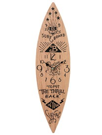 サーフボード ウォールクロック 壁掛け時計「SURF BOARD ブラウン」 サーフィン アロハ マウイ ハワイ おしゃれ時計 ハワイアン雑貨 西海岸風 インテリア アメリカン雑貨