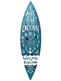 サーフボード ウォールクロック 壁掛け時計「SURF BOARD ネイビー」 サーフィン アロハ マウイ ハワイ おしゃれ時計 ハワイアン雑貨 西海岸風 インテリア アメリカン雑貨