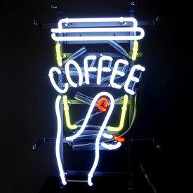 看板 店舗用アメリカン ネオンサイン (COFFEE/コーヒー) テイクアウトカップ H50×W30cm ネオン看板 ネオン管 カフェ 西海岸風 インテリア アメリカン雑貨