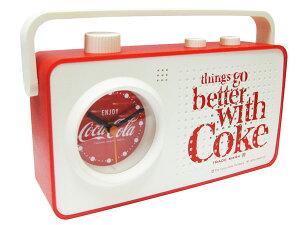 【コカコーラ ラジオ アラーム クロック】ラジオ付き目覚まし時計(Coca-Cola シングス JJ11) 西海岸風 インテリア アメリカン雑貨
