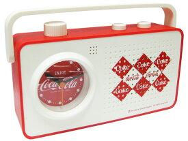 【コカコーラ ラジオ アラーム クロック】目覚まし時計(Coca-Cola ダイヤモンド JJ10) 西海岸風 インテリア アメリカン雑貨