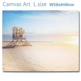 アメリカン キャンバスアート L (カリフォルニア ハンティントンビーチ62072) 砂浜 ポスター 壁飾り おしゃれ フォト 写真 西海岸風 壁面 インテリア サーフィン アメリカン雑貨