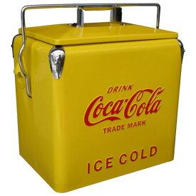 コカコーラ(Coca Cola)ピクニックストレージ イエロー クーラーボックス 保冷ボックス アメリカ雑貨 アメリカ雑貨屋 保冷 西海岸風 インテリア アメリカン雑貨