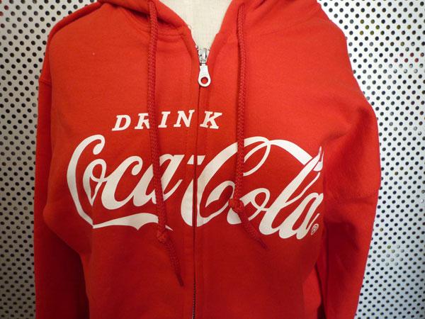 コカコーラ スエットパーカー Coca-Cola/レッド ジップパーカー ロゴパーカー USA アメリカンクラッシックロゴマーク アメリカン雑貨 アメ雑