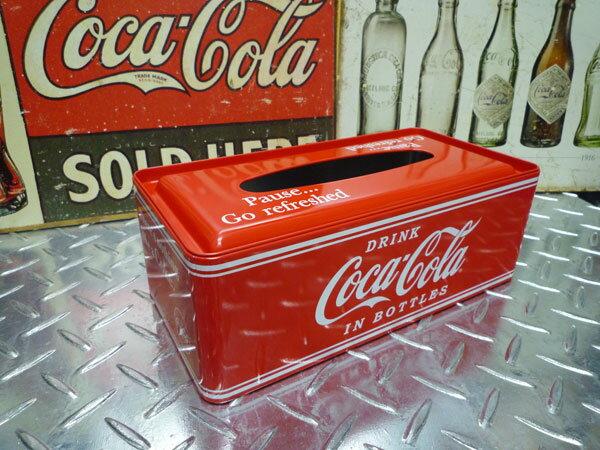 コカ・コーラ メタル ティッシュケース コカ・コーラグッズ ブランド coca-cola 西海岸風 インテリア アメリカン雑貨