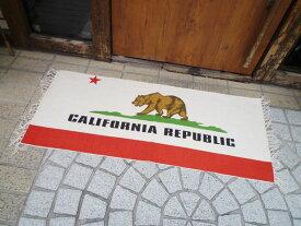 カリフォルニアリパブリックのキッチンマット コットンマット 玄関マット ガレージマット マット 西海岸風 インテリア アメリカン雑貨