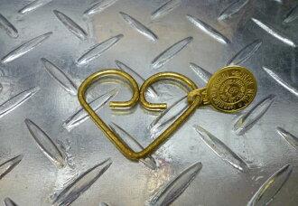 珍环匙扣 (心) 钥匙环钥匙扣单挑镀铬黄铜钥匙圈 jeanring 关键关键美国商品休闲