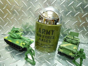世田谷ベース 大容量 アーミーエアホース(ARMY AIR FORCE)の フタ付きドーム型灰皿 ミリタリー灰皿 [雑貨 喫煙具] 喫煙グッズ 喫煙雑貨 西海岸風 インテリア アメリカン雑貨