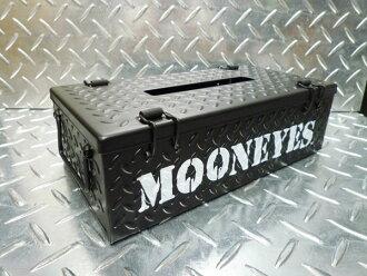 ★ garages iron patterned tissue case mooneyes (black) ★ Checker plate tissue box tissue cover, tissue paper plate