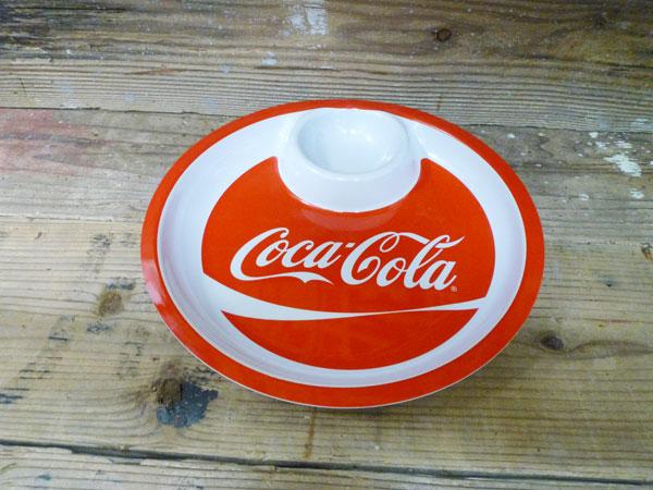 コカコーラブランド ディッププレート アウトドアプレート プラスチックプレート お皿 コカコーラグッズ 雑貨 グッズ ブランド Coca-Cola 西海岸風 インテリア アメリカン雑貨