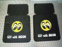 【MOONEYES】ムーンアイズ カーマット(車用ラバーマット) アイボール フロント用 2枚組 ラバーマット マット
