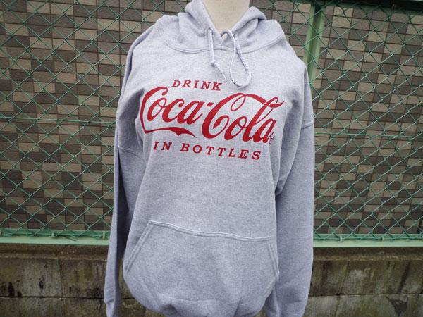 コカコーラ スエットパーカー Coca-Cola/グレー プルオーバーパーカー ロゴパーカー USA アメリカンクラッシック ロゴマーク アメリカン雑貨 アメリカ雑