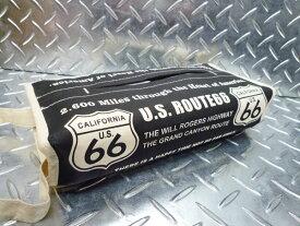 《ROUTE66》ルート66のティッシュカバー ブラック 黒 布製 ティッシュケース 吊り下げ 西海岸風 インテリア アメリカン雑貨