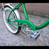 Setagaya-based Californian bike lowrider/la green and bike and Rocha Li / retro American garage United States goods American grocery bike