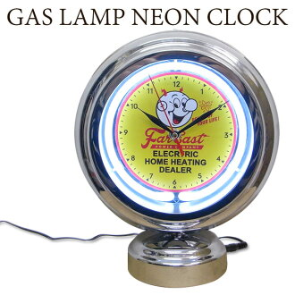 Gas lamp neon clock Power Company lady kilowatt stands clock table clock  clock neon light garage bar man's looks American miscellaneous goods United
