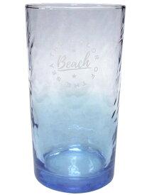 カリフォルニア ビーチ グラス (スカイブルー) グラデーション コップ ガラス タンブラー 硝子 西海岸風 インテリア アメリカン雑貨