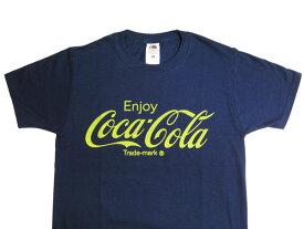 Coca-Cola コカコーラ プリントTシャツ ネイビー(CC-VT2N-YE) コカコーラ tシャツ コカコーラブランド USA アメカジ コカコーラ グッズ アメリカ雑貨 コカ・コーラ 西海岸風 インテリア アメリカン雑貨