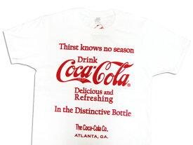 Coca-Cola コカコーラ プリントTシャツ ホワイト(CC-VT11-WH) ロゴT アメカジ USA 西海岸風 インテリア アメリカン雑貨