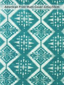 ネイティブ マルチカバー 150×225cm ( C45 ) オールドアメリカン 民族風 幾何学模様 ベッドカバー ソファカバー テーブルクロス カーテン 日除け 布 大判 西海岸風 アメリカン雑貨