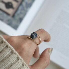 【ネコポス送料無料】 ストーンリング 天然石 ソーダライト 指輪 ☆WA04