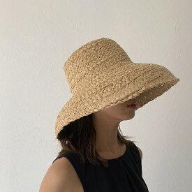 Lavish Gate ブリムダウンハット ラフィア 帽子