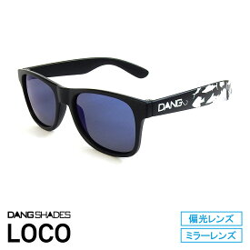 DANG SHADES [ダン・シェイディーズ] Matte Black with FISHING X Blue Mirror Polarized