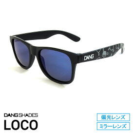 DANG SHADES [ダン・シェイディーズ] Matte Black with HANG LOOSE X Blue Mirror Polarized