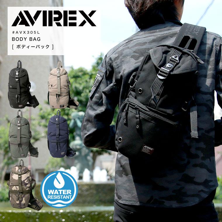 SALE限定20%OFFクーポン対象★ AVIREX avirex EAGLE ボディバッグ AVX305L 【SALE 返品・交換不可】