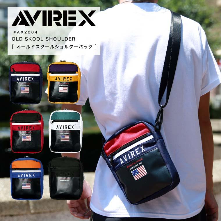 AVIREX アビレックス オールドスクールショルダーバッグ AX2004▲