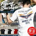 AVIREX アヴィレックス 別注 限定 AVIREX アビレックス ショートスリーブ フライングシャーク ティーシャツ 6193360 …