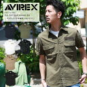 AVIREX アヴィレックス 半袖ファティーグ カーキシャツ S/S FATIGUE KHAKI SHIRT 6175093【クーポン対象外商品】