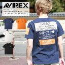 AVIREX アヴィレックス SHEETING WAPPEN SR-71 TEE シーチング ワッペン SR-71 Tシャツ ミリタリー 2020年 春 夏 新作…
