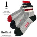 Healthknit(ヘルスニット) 3P ソックス シンカーライン クォーター 靴下 ショートソックス 191-3102