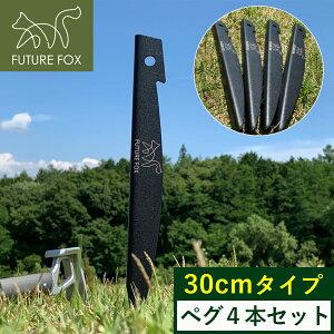 FUTURE FOX ペグ 鉄製 30cm 4本セット 軽量 【信州発アウトドアブランド】 送料無料