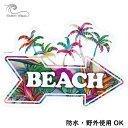 コリーンウィルコックス BEACHステッカー 耐水 野外使用OK プレゼント ギフト【 車 スーツケース おしゃれ ハワイ ア…