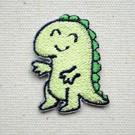 ワッペン 恐竜さん(SSサイズ) O-012 ワッペン ブランド 通販 アップリケ ブレザー シャツ 雑貨 アルファベット イニシャル スマイル アメリカ アイロン 入園 名前