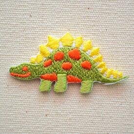 ワッペン 恐竜(グリーン/イエロー) OS-030 ワッペン アイロン ブランド 通販 アップリケ ブレザー シャツ エンブレム アルファベット イニシャル ミリタリー カンパニー 名前 キャラクター SSS