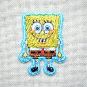 シールワッペン スポンジボブ(Sponge Bob) S05Y9023 ワッペン アイロン ブランド 通販 アップリケ ブレザー シャツ エンブレム アルファベット イニシャル ミリタリー 入園 名前 キャラクター