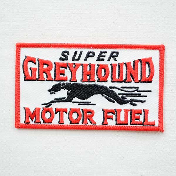 ロゴワッペン Greyhound グレイハウンド 犬 W213 アイロン アップリケ パッチ アルファベット エンブレム 名前 ミリタリー 車 ディズニー ワッペン