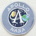ロゴワッペン APOLLO NASA アポロナサ LGW-016 アイロン アップリケ パッチ アルファベット エンブレム 名前 ミリタリー 車 ディズニー ワッペン