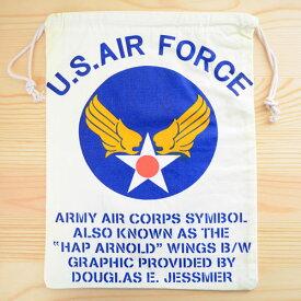 アメリカンロゴ巾着袋(L) USエアフォース(アメリカ空軍) U.S.Air Force LJK-L001