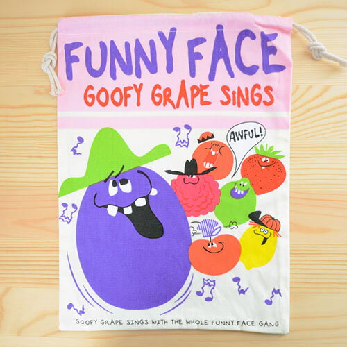 アメリカンロゴ巾着袋(L) ファニーフェイス Funny Face LJK-L020