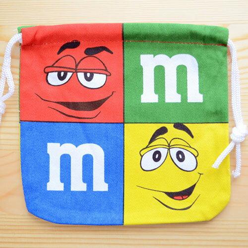 アメリカンキャラ巾着袋(S) M&M's エムアンドエムズ チョコレート LJK-S022