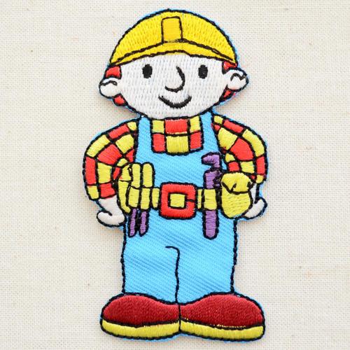 ワッペン ボブとはたらくブーブーズ Bob the Builder LJW-129 アイロン アップリケ パッチ アルファベット エンブレム 名前 ミリタリー 車 ディズニー ワッペン
