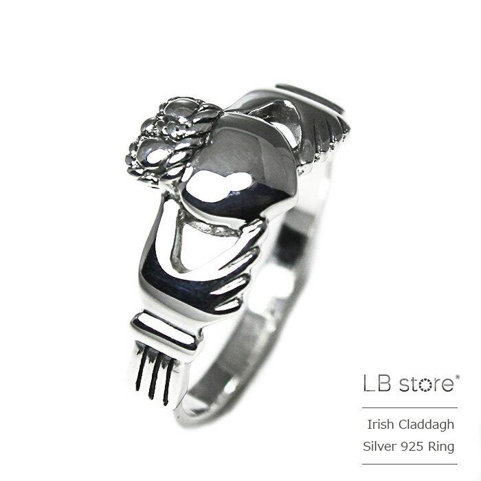 アイリッシュ・クラダリング・シルバー925・ワイド メンズ レディース ユニセックス claddagh ring LBstore