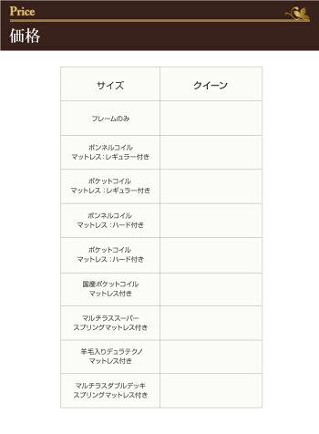 モダンデザイン・大型サイズチェストベッド【Grandluna】グランルーナ【ポケットコイルマットレス:ハード付き】クイーン(代引不可)